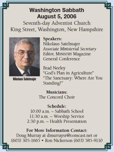 Annual Meeting : Washington NH Seventh-day Adventist® Church